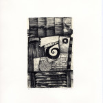 paul croft- welsh times vii - Aberystwyth printmakers at Art at Wharepuke NZ